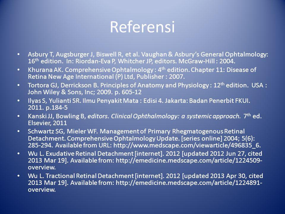 Referensi Asbury T, Augsburger J, Biswell R, et al.