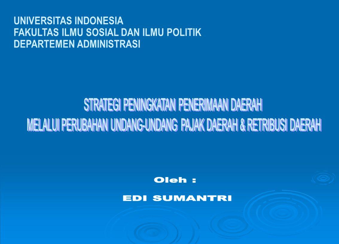 PENDAPATAN DAERAH Pendahuluan : Background Penyelenggaraan Pemerintahan (Daerah : OTDA) KEBUTUHANKEBUTUHANKEBUTUHANKEBUTUHAN Pelayanan pd Masyarakat (Publik) Pembangunan secara Berkesinambungan (Sustainability)