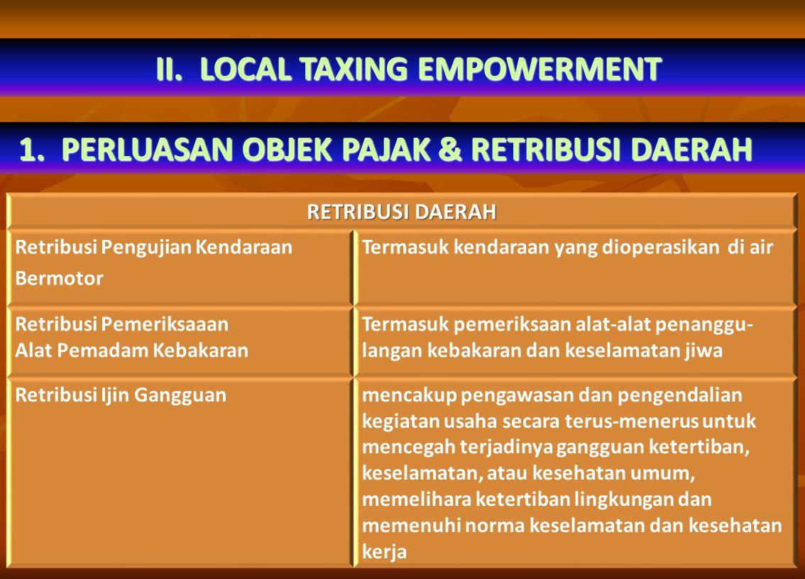 2.PENAMBAHAN JENIS PAJAK DAERAH & RETRIBUSI. DaerahUU 34/2000UU 28/2009 Provinsi 1.