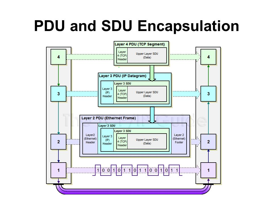 PDU and SDU Encapsulation