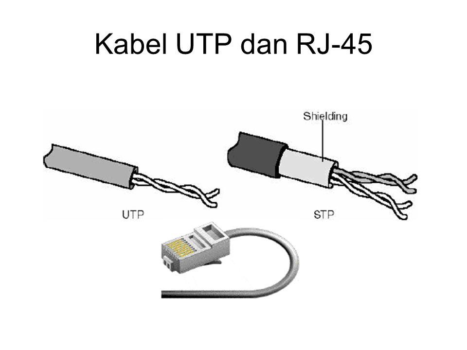 Kabel UTP dan RJ-45