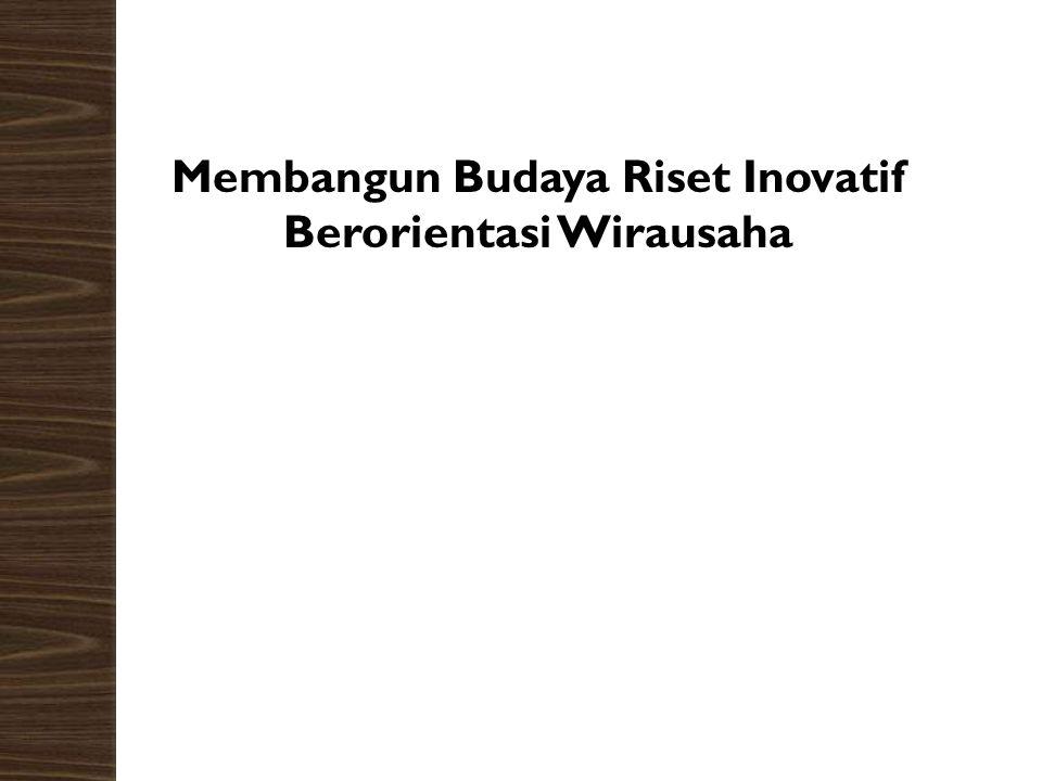 Membangun Budaya Riset Inovatif Berorientasi Wirausaha Lisminto ----------------------------- Peneliti Independent Bekerja di PT. Naturabit Pacific En
