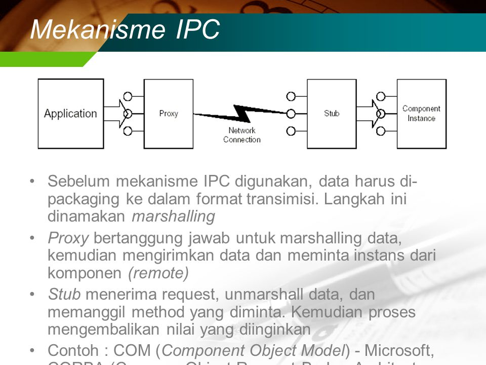 Contoh RPC Server hosts subroutines which can be called from a client machine