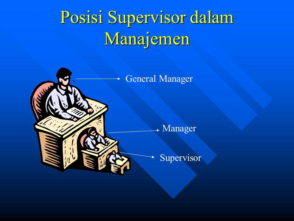 Posisi Supervisor dalam Manajemen Manager General Manager Supervisor