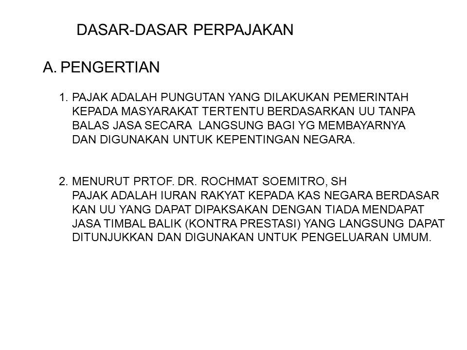 DASAR-DASAR PERPAJAKAN A.PENGERTIAN 1.