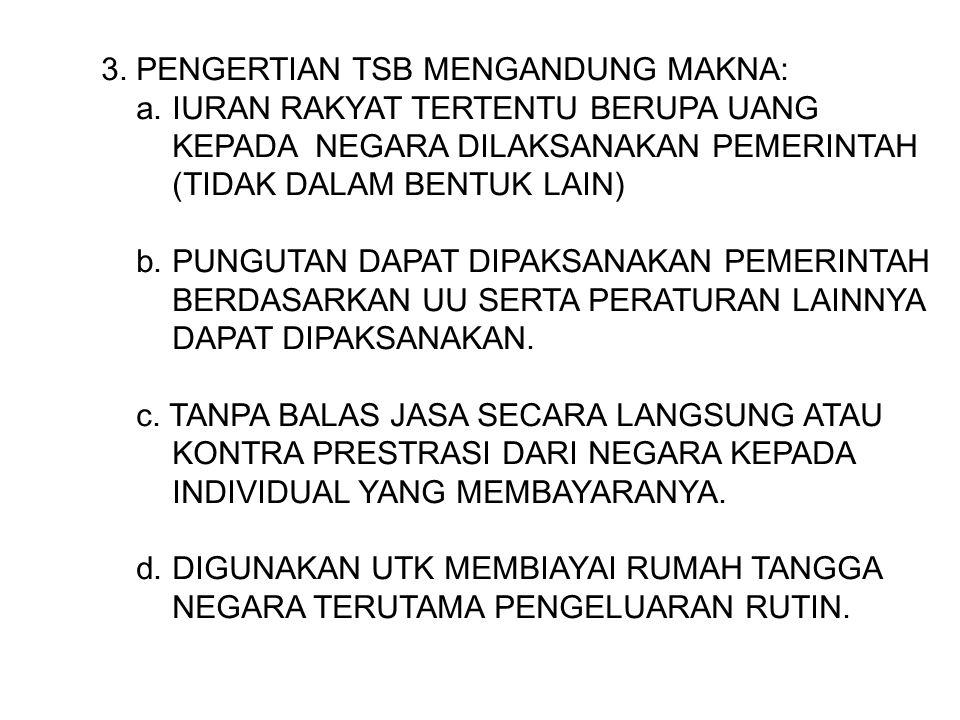 3.PENGERTIAN TSB MENGANDUNG MAKNA: a.
