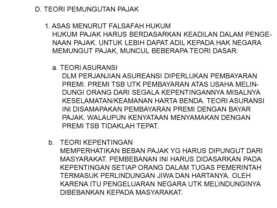 ASAS PEMUNGUTAN PAJAK 1.
