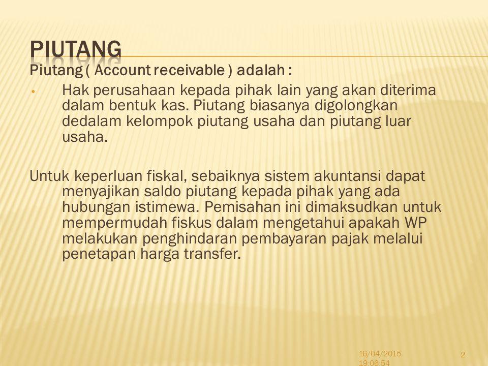 Piutang Usaha terjadi akibat transaksi penjualan barang atau penyerahan jasa untuk kegiatan usaha normal perusahaan.