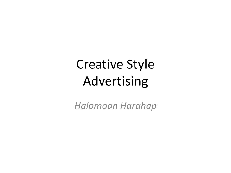 Creative Style Advertising Halomoan Harahap