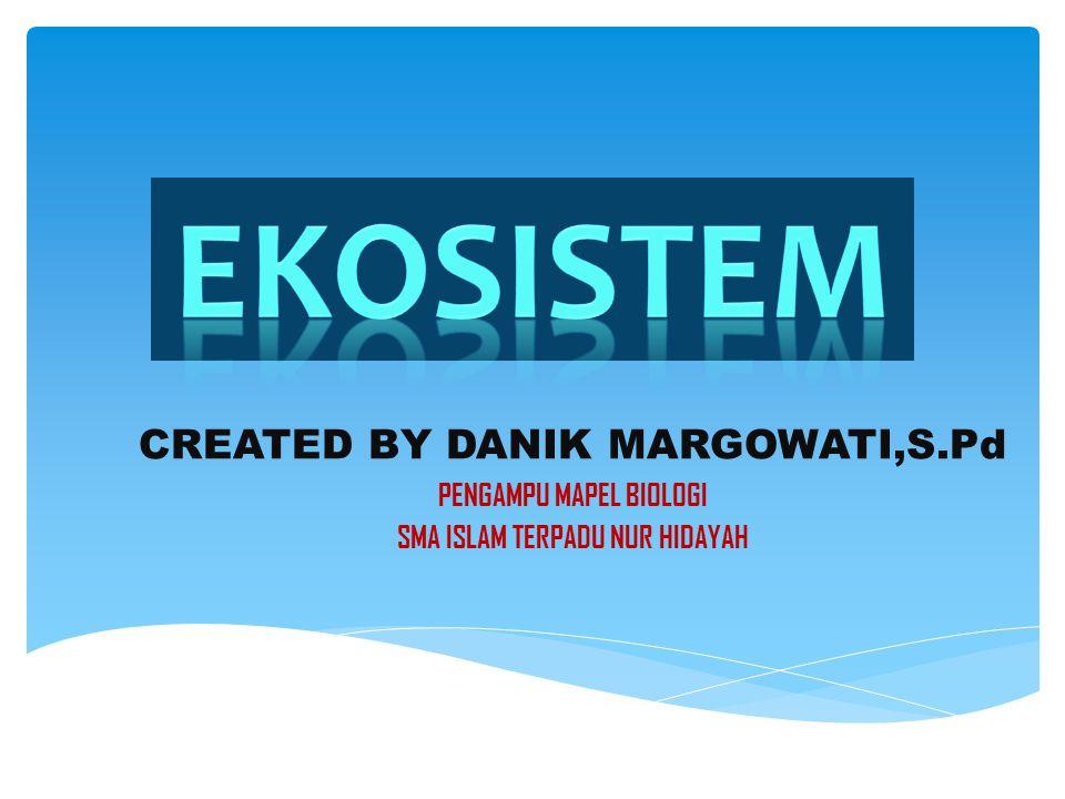 CREATED BY DANIK MARGOWATI,S.Pd PENGAMPU MAPEL BIOLOGI SMA ISLAM TERPADU NUR HIDAYAH