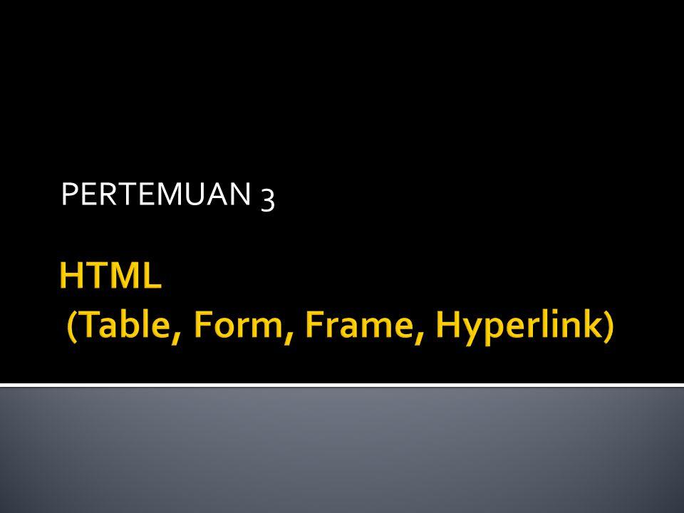  Untuk menampilkan beberapa dokumen HTML secara sekaligus dalam satu jendela web browser adalah dengan menggunakan Frame.
