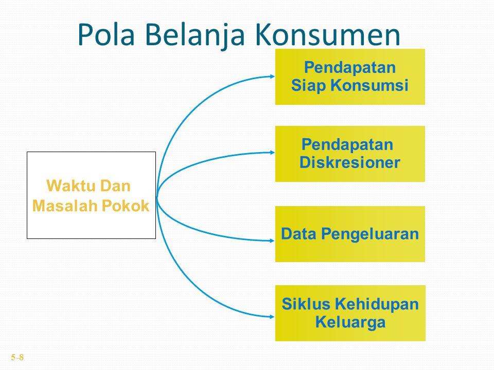 Waktu Dan Masalah Pokok Pendapatan Siap Konsumsi Data Pengeluaran Siklus Kehidupan Keluarga Pendapatan Diskresioner Pola Belanja Konsumen 5-8
