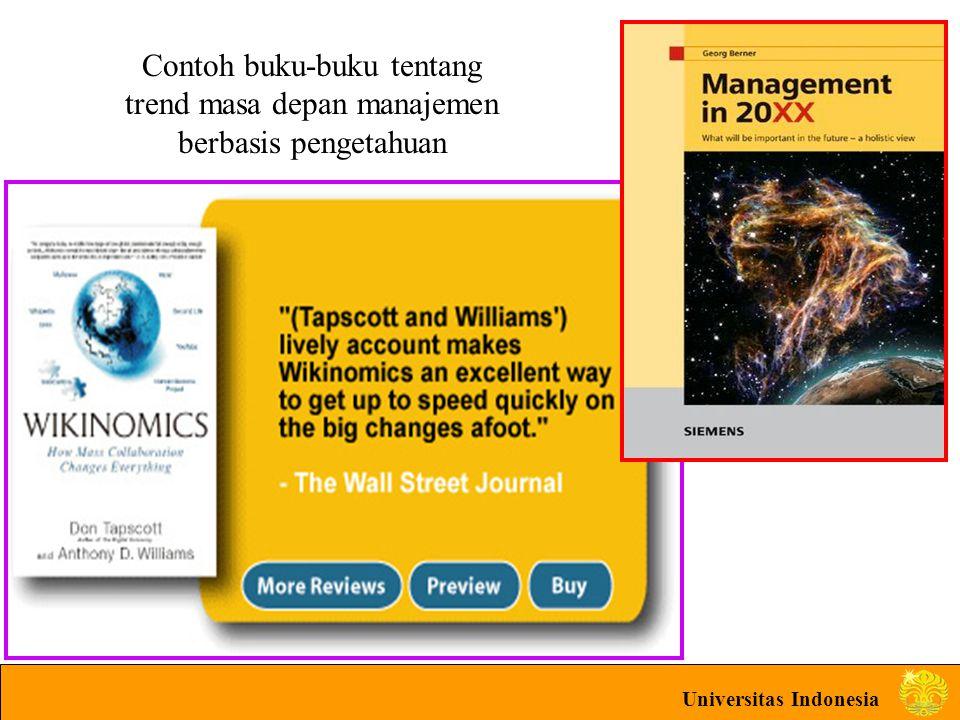 Universitas Indonesia Contoh buku-buku tentang trend masa depan manajemen berbasis pengetahuan