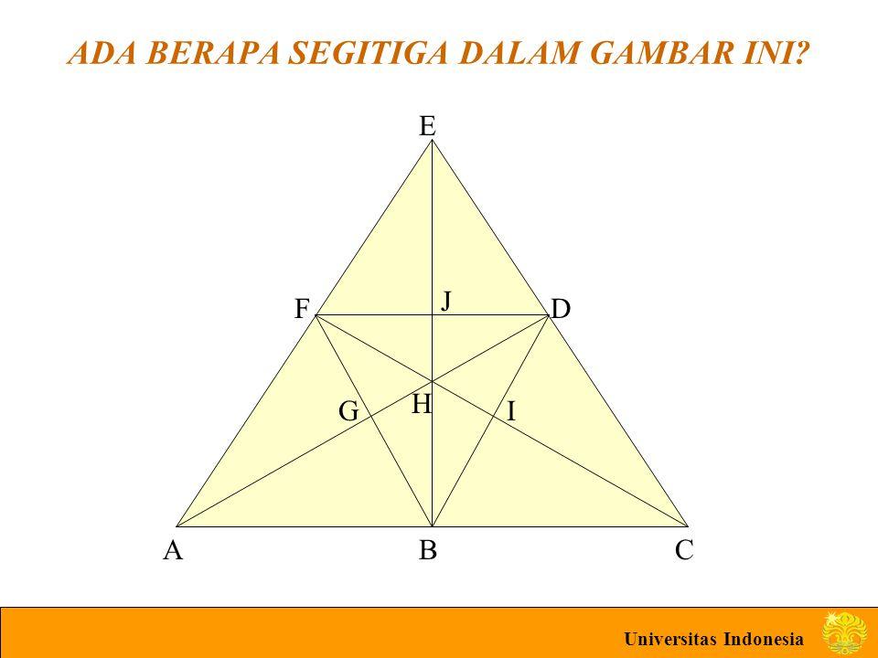 Universitas Indonesia ADA BERAPA SEGITIGA DALAM GAMBAR INI ABC D E F G H I J