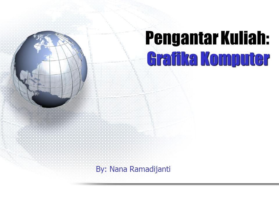 Pengantar Kuliah: Grafika Komputer By: Nana Ramadijanti