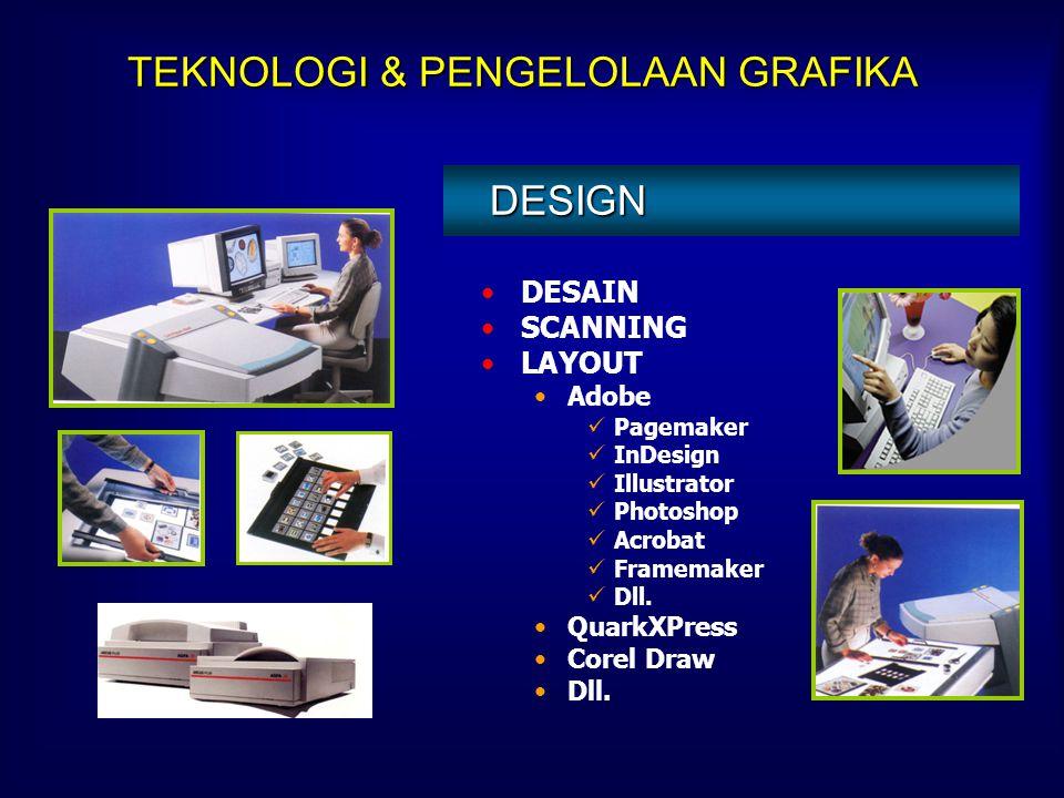 SEKOLAH MENENGAH KEJURUAN (STM GRAFIKA) Menyiapkan sumber daya manusia untuk menerapkan tehnologi percetakan. Bekerjasama dengan industri percetakan b