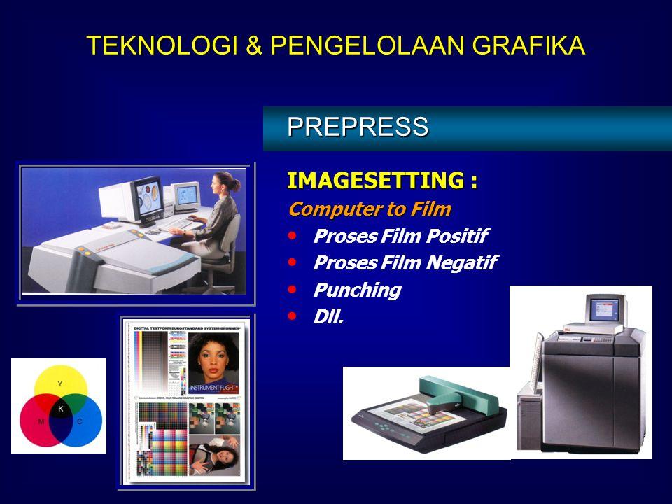 JASA PREPRESS LAINNYA : Typesetting Foto Reproduksi (B/W) – Positif & Negatif Montage Imagesetting  Film Platesetting  Plate Film Making Plate Makin