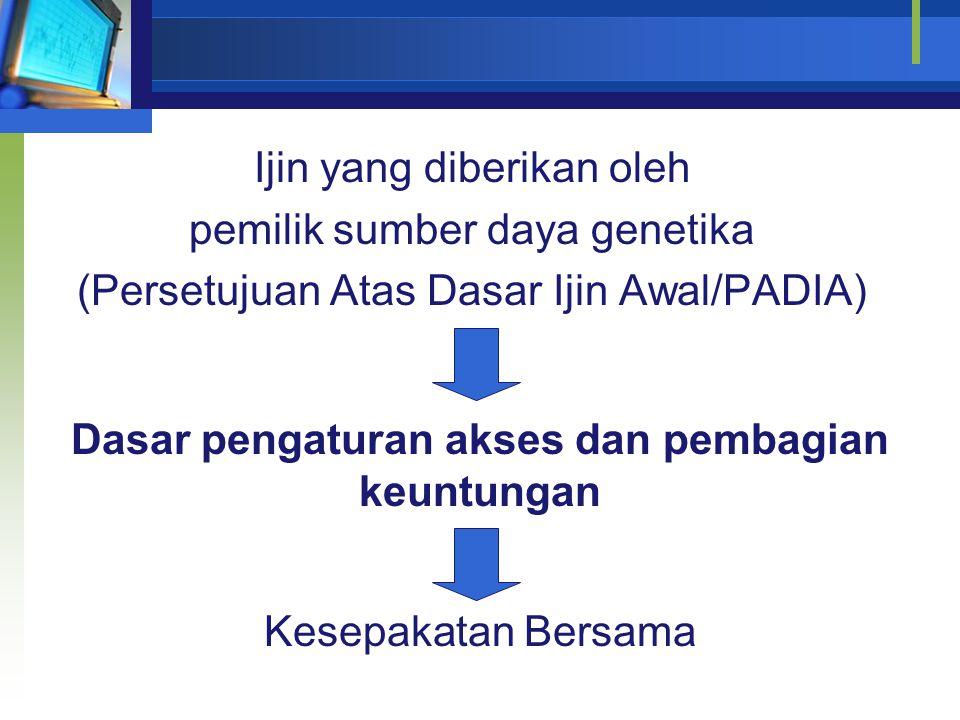 Upaya penyerasian antara Ketetapan- ketetapan di dalam UU No. 5/1994 (CBD) dengan peraturan Nasional yang telah ada RUU Pengelolaan Sumber Daya Geneti