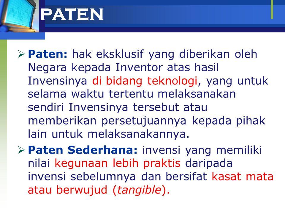 Penelusuran Dokumen Paten Gedung Rektorat IPB Lantai 5 Kampus IPB Darmaga, Bogor 16680 Telp./Fax.: +62-251-624512 E-mail: haki@bima.ipb.ac.idhaki@bima