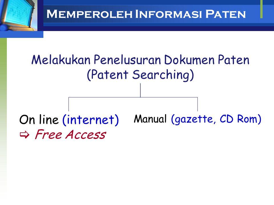 Individuals Perusahaan/ Industri Universitas Institut Penelitian Asosiasi Industri dan Kadin Intellectual Property Office Pemakai informasi paten Peme