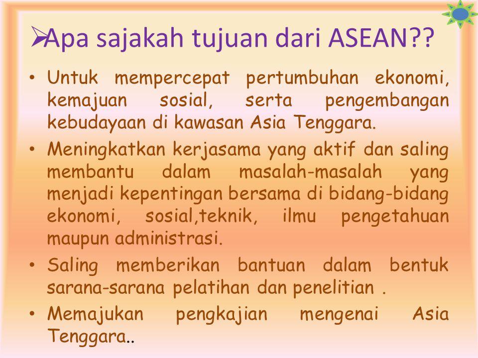 3.Deklarasi zona damai,merdeka,dan netralitas, di Kuala Lumpur 4.Deklarasi Singapura  Ada beberapa hal untuk meningkatkan peranan ASEAN, diantaranya: