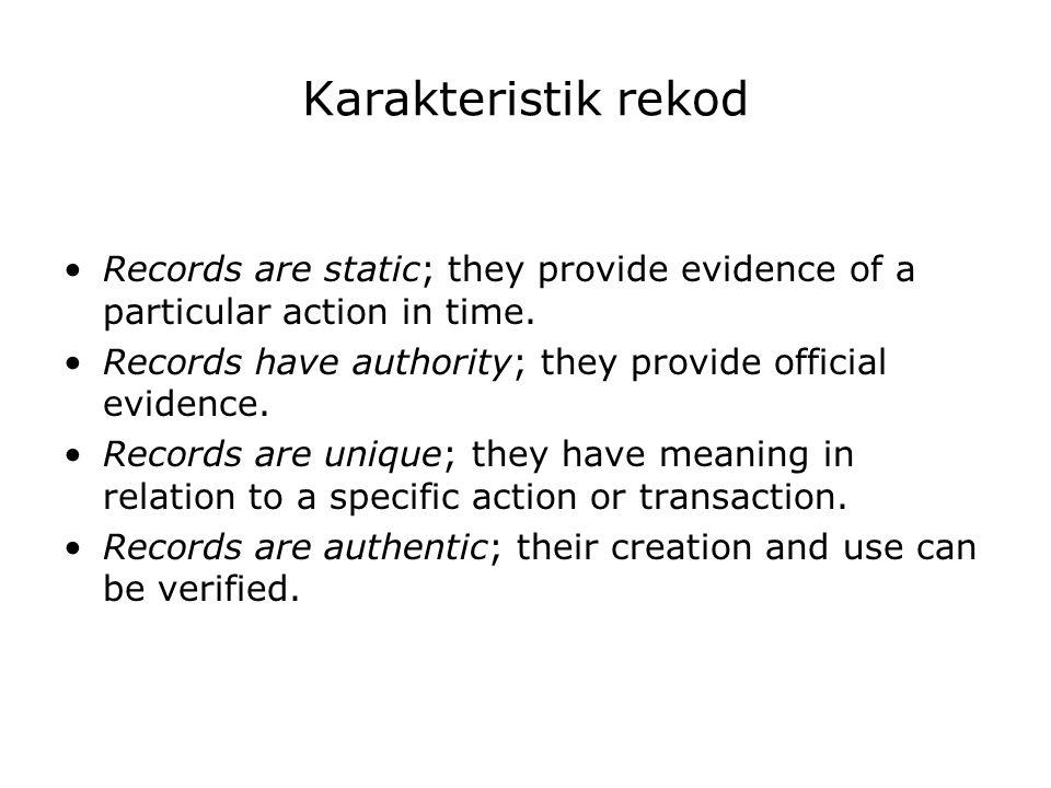 ……… Lanjutan nilaiguna Nilai guna Sekunder (Secondary Values) Nilai guna Sekunder (Secondary Values) Arsip yang penilaiannya didasarkan pada kepentingan organisasi lain atau kepentingan umum sebagai bahan bukti pertanggungjawaban nasional.