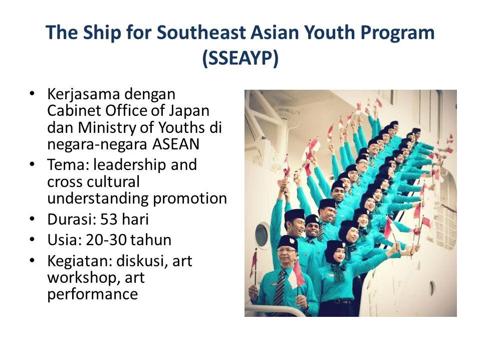 Kerjasama dengan Cabinet Office of Japan dan Ministry of Youths di negara-negara ASEAN Tema: leadership and cross cultural understanding promotion Dur