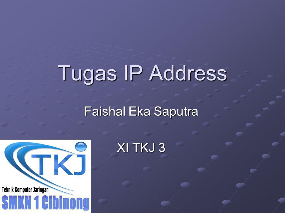 Tugas IP Address Faishal Eka Saputra XI TKJ 3