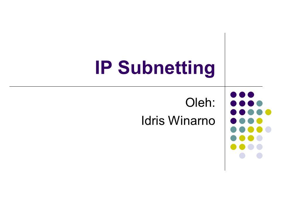 Dasar teori (1) Masih ingat dengan konsep penomoran IP.