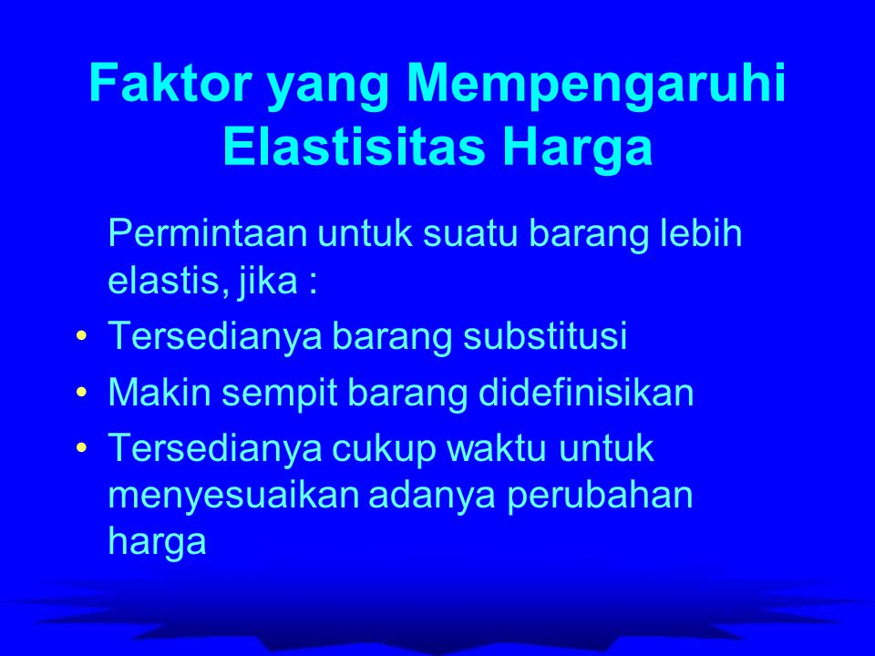 Elastisitas Pendapatan (Income Elasticity of Demand) Fungsi Linier : El.