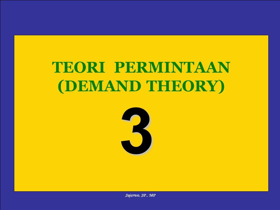 Sujarwo, SP., MP TEORI PERMINTAAN (DEMAND THEORY) 3