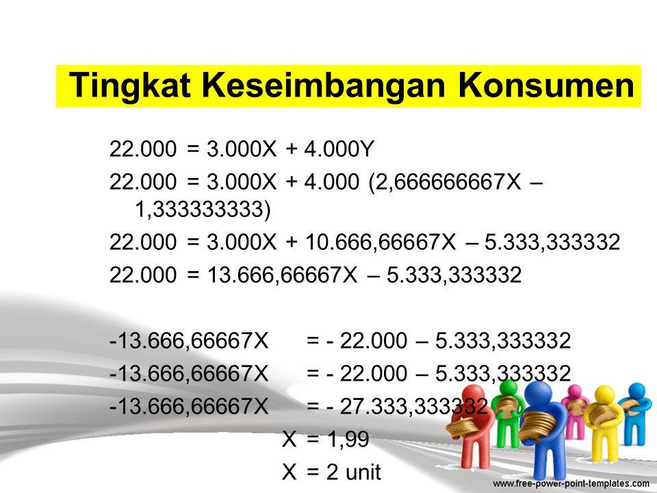 68.000 – 16.000X= 60.000 – 6.000Y 68.000 – 60.000= 16.000X – 6.000Y 8.000= 16.000X – 6.000Y 6.000Y = 16.000X – 8.000 3.000Y= 8.000X – 4.000 Y= 2,66666