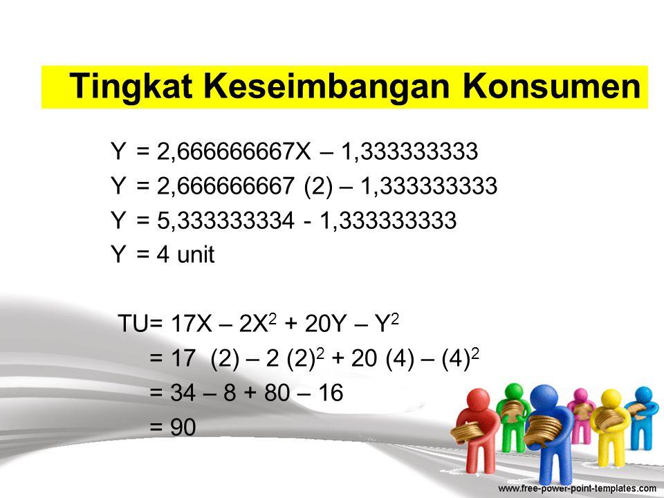 22.000= 3.000X + 4.000Y 22.000 = 3.000X + 4.000 (2,666666667X – 1,333333333) 22.000 = 3.000X + 10.666,66667X – 5.333,333332 22.000= 13.666,66667X – 5.
