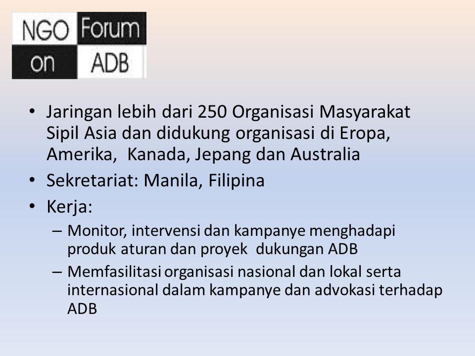 Jaringan lebih dari 250 Organisasi Masyarakat Sipil Asia dan didukung organisasi di Eropa, Amerika, Kanada, Jepang dan Australia Sekretariat: Manila,