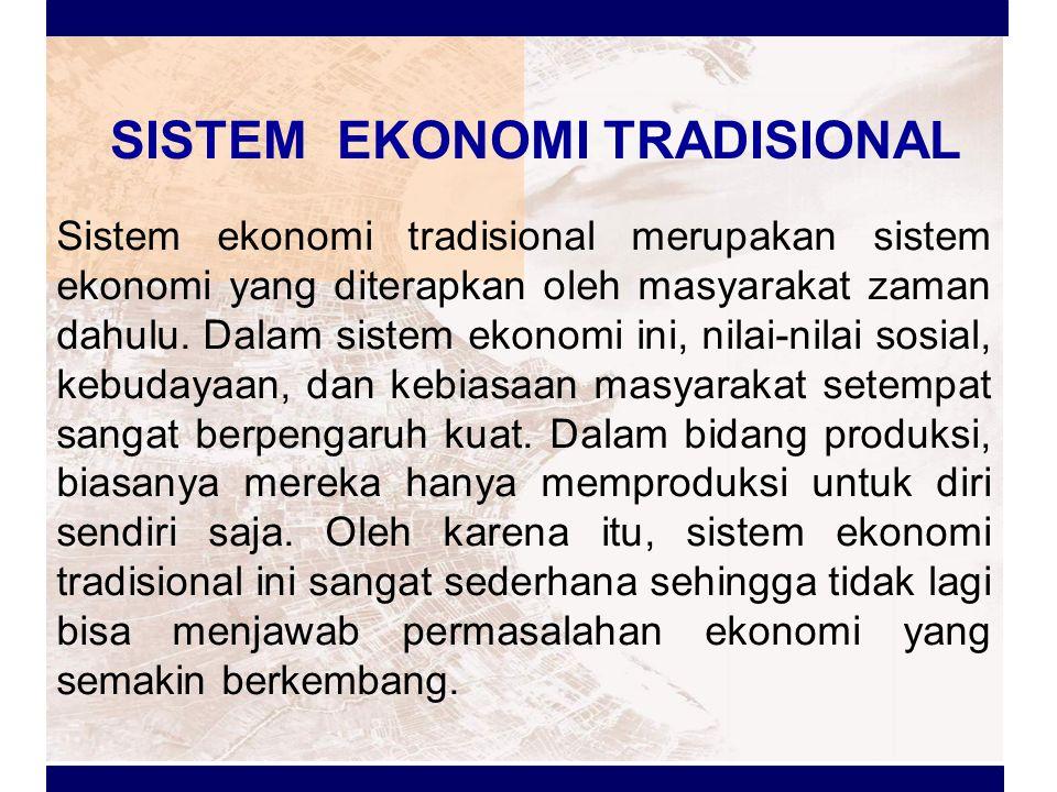 SISTEM EKONOMI INDONESIA Sistem ekonomi yang dianut negara Indonesia adalah sistem ekonomi Pancasila yaitu salah satu sistem ekonomi yang dijiwai oleh ideologi Pancasila yang didalamnya terkandung makna demokrasi ekonomi, yaitu kegiatan ekonomi yang dilakukan berdasarkan usaha bersama berasaskan kekeluargaan dan kegotongroyongan dari, oleh dan untuk rakyat dibawah pimpinan dan pengawasan pemerintah.