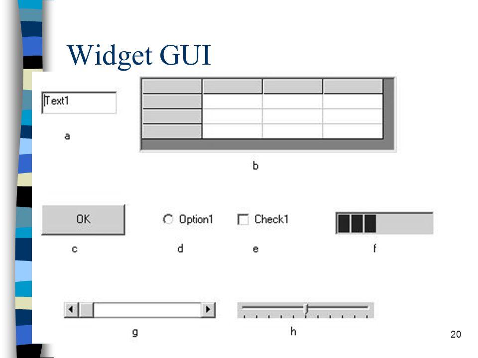 20 Widget GUI