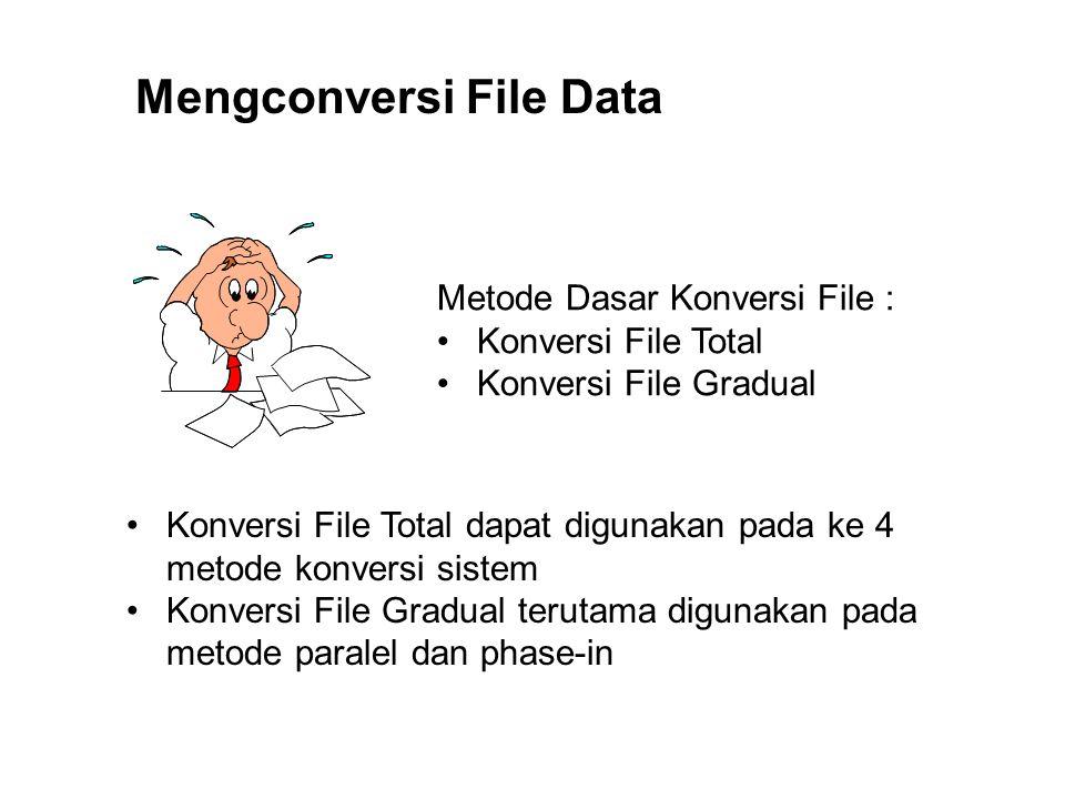 Mengconversi File Data Metode Dasar Konversi File : Konversi File Total Konversi File Gradual Konversi File Total dapat digunakan pada ke 4 metode kon