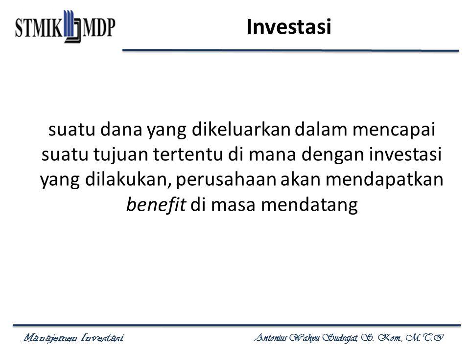 Manajemen Investasi Antonius Wahyu Sudrajat, S.