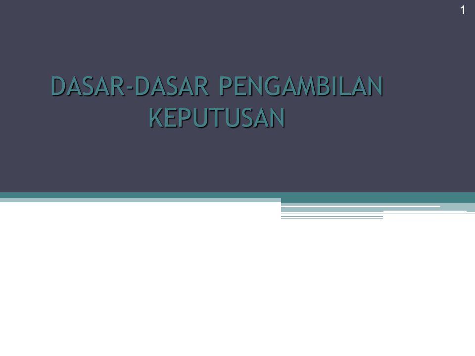 Jenis-jenis Pengambilan Keputusan Berdasarkan program atau regularitas : (1).