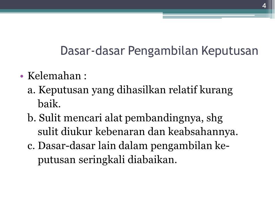 Dasar-dasar Pengambilan Keputusan (2).