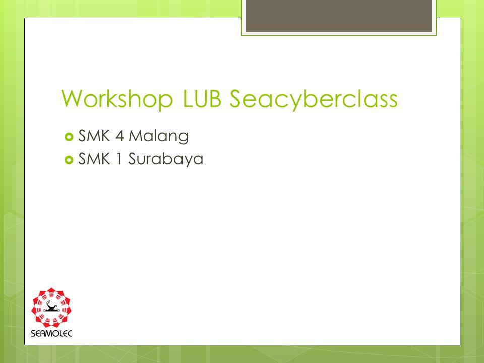 Workshop LUB Seacyberclass  SMK 4 Malang  SMK 1 Surabaya