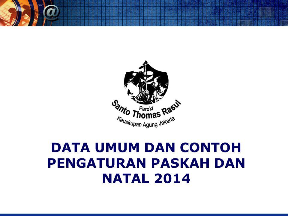 DATA UMUM DAN CONTOH PENGATURAN PASKAH DAN NATAL 2014