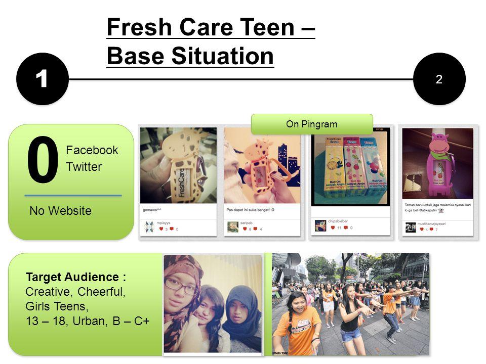 1 1 2 2 Fresh Care Teen – Base Situation 0 Facebook Twitter No Website On Pingram Target Audience : Creative, Cheerful, Girls Teens, 13 – 18, Urban, B