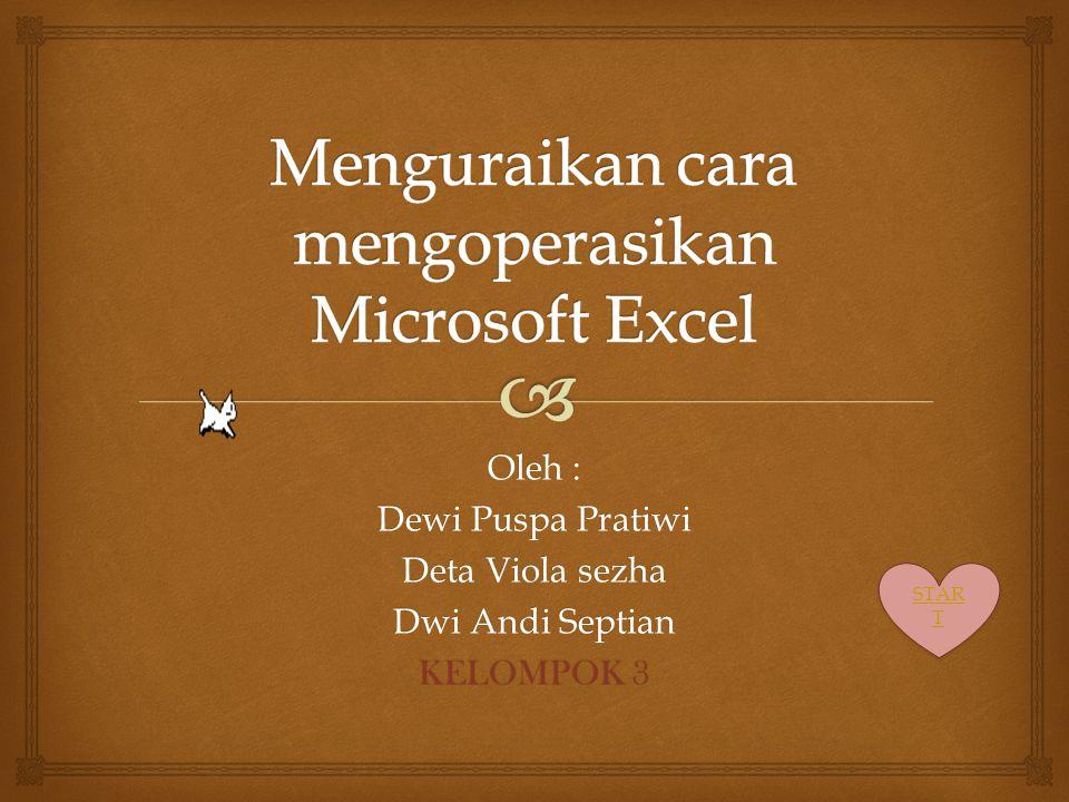 Oleh : Dewi Puspa Pratiwi Deta Viola sezha Dwi Andi Septian KELOMPOK 3 STAR T STAR T