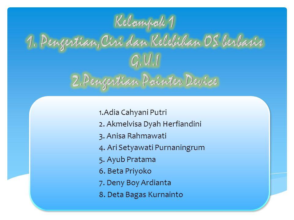 1.Adia Cahyani Putri 2. Akmelvisa Dyah Herfiandini 3.