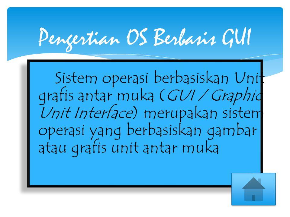 Sistem operasi berbasiskan Unit grafis antar muka (GUI / Graphic Unit Interface) merupakan sistem operasi yang berbasiskan gambar atau grafis unit ant