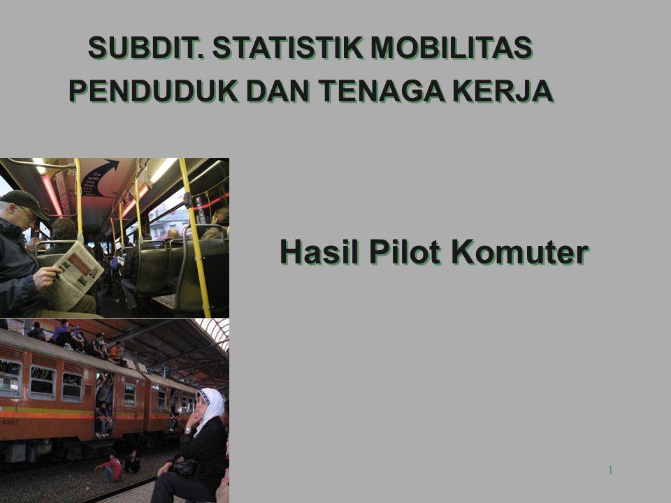 1 Hasil Pilot Komuter SUBDIT. STATISTIK MOBILITAS PENDUDUK DAN TENAGA KERJA