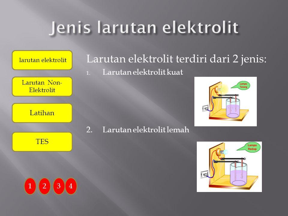 Larutan bersifat elektolit karena larutan mengandung ion-ion yang bebas bergerak 1234 Larutan Elektrolit dapat menghantarkan listrik karena dalam laru