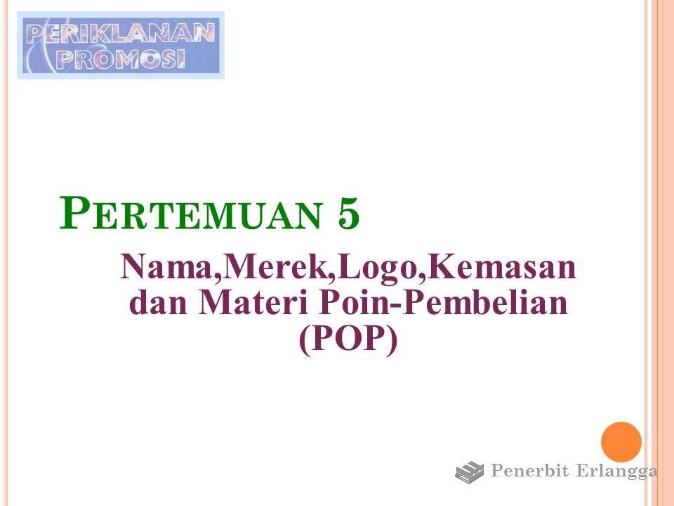 P ENAMAAN M EREK Nama yang dipilih untuk suatu merek : 1.