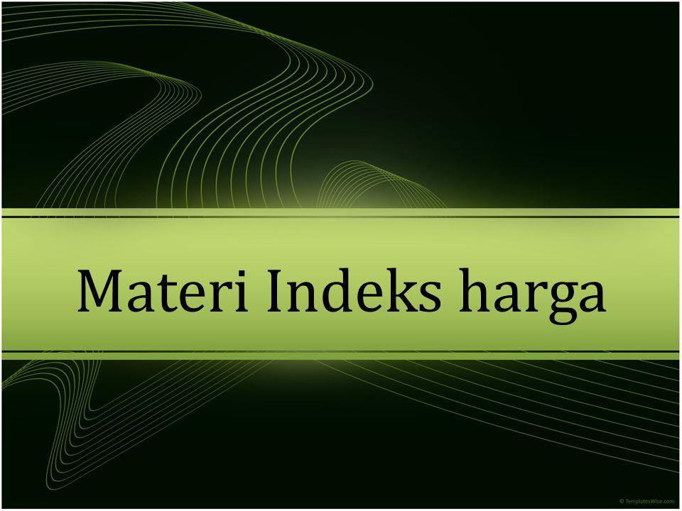 Materi Indeks harga